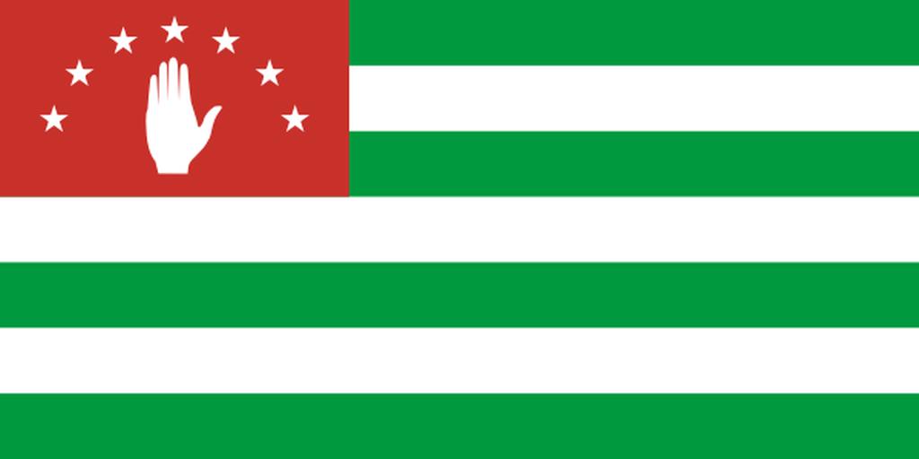Flaga kraju ABCHAZJA [PNG]
