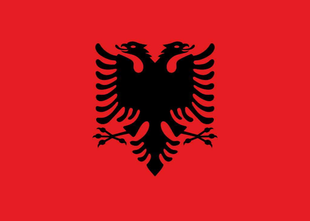 Flaga kraju ALBANIA [PNG]
