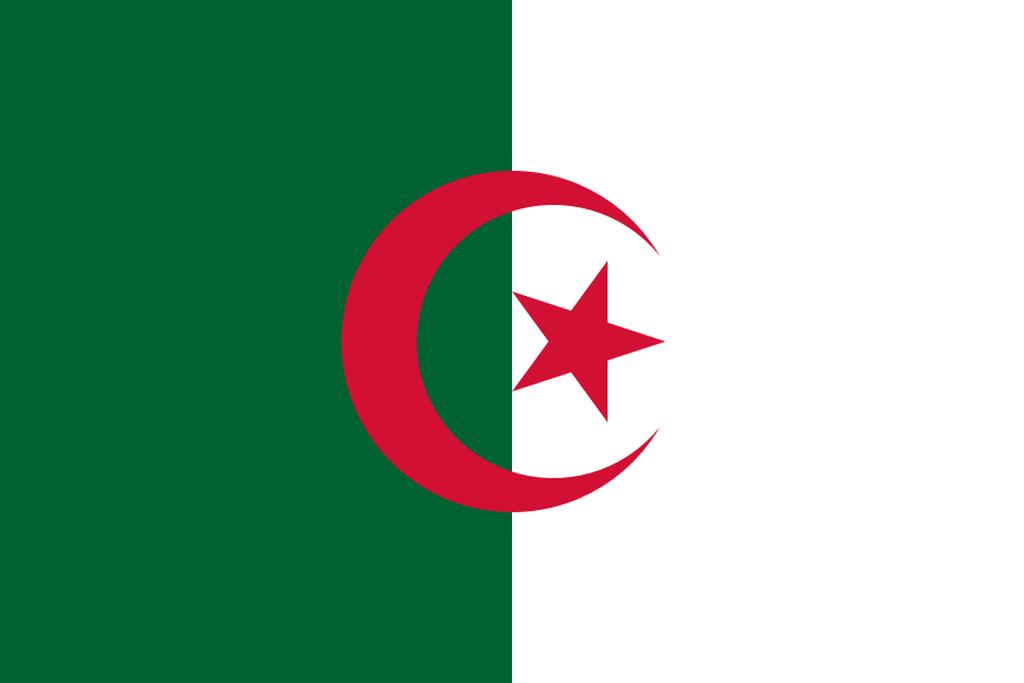 Flaga kraju ALGIERIA [PNG]