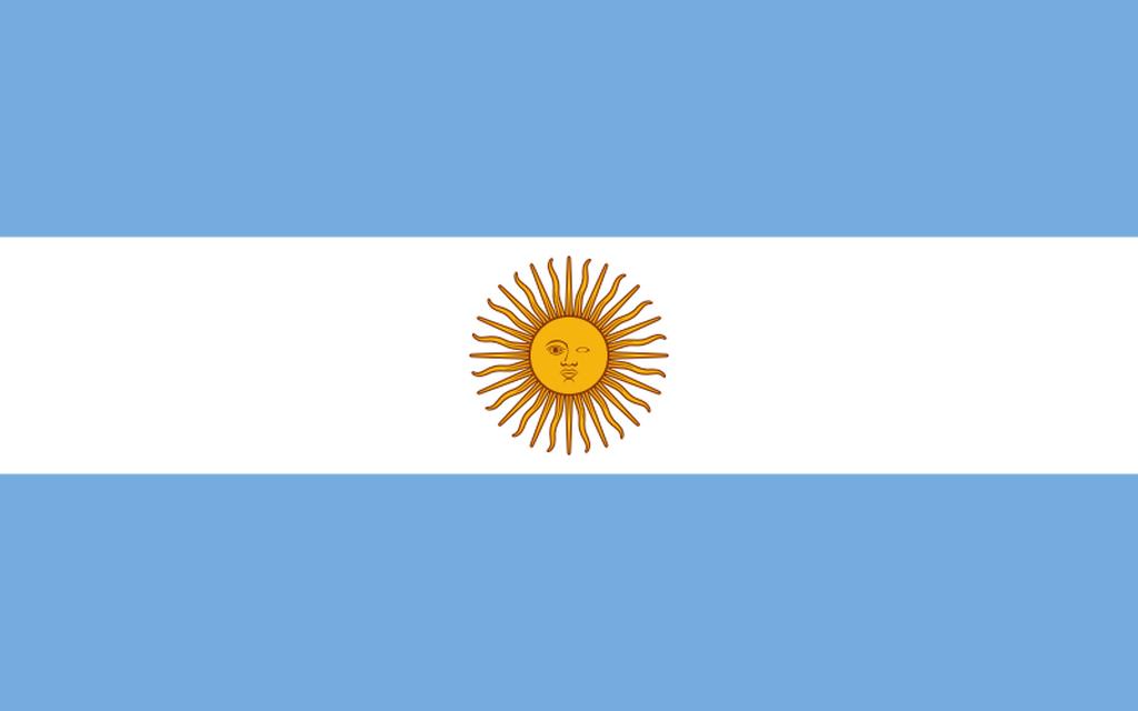 Flaga kraju ARGENTYNA [PNG]