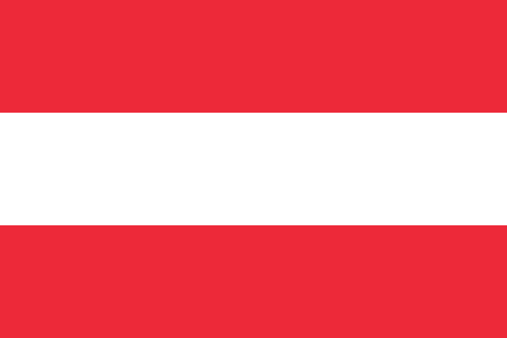 Flaga kraju AUSTRIA [PNG]