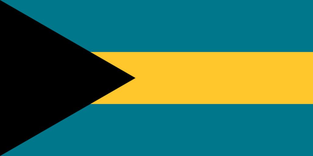 Flaga kraju BAHAMY [PNG]