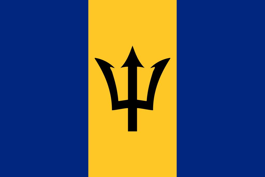 Flaga kraju BARBADOS [PNG]