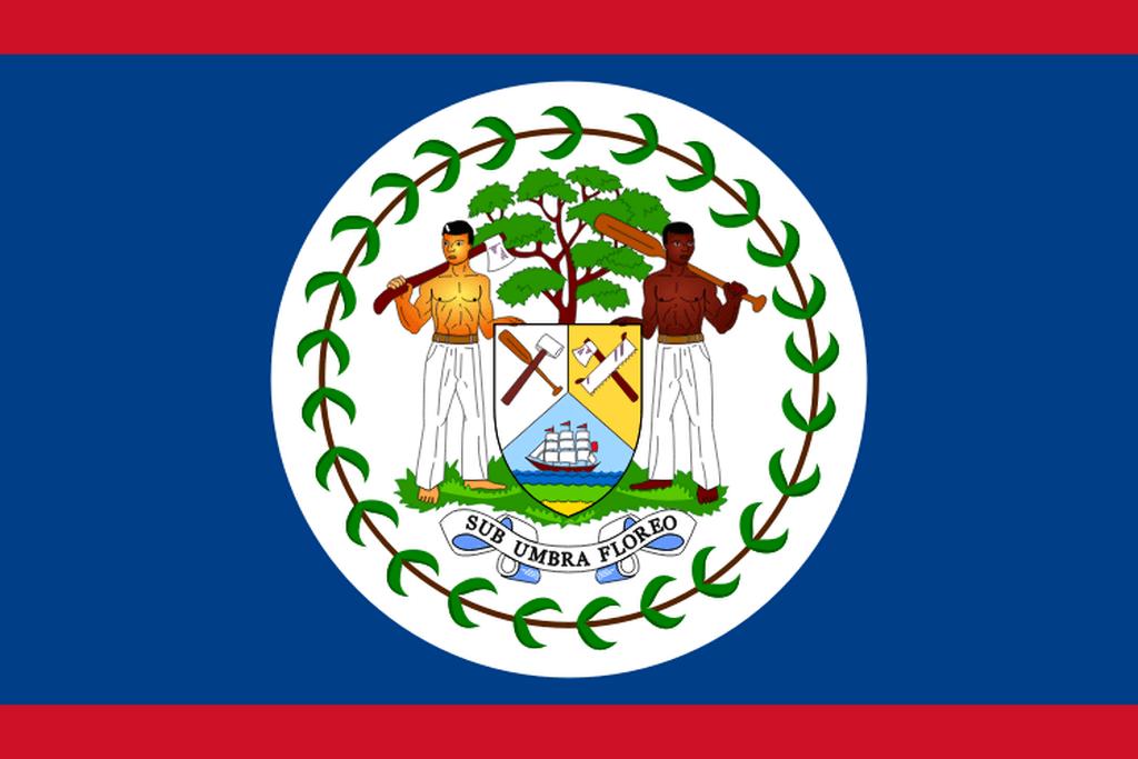Flaga kraju BELIZE [PNG]