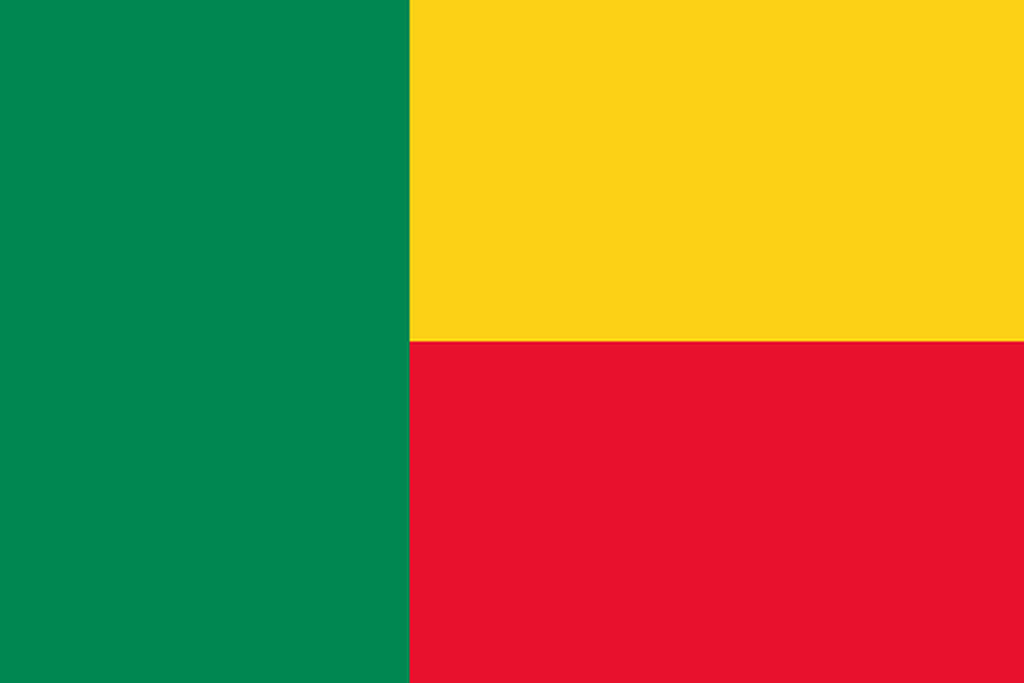 Flaga kraju BENIN [PNG]