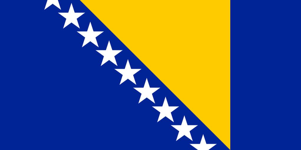 Flaga kraju BOŚNIA I HERCEGOWINA [PNG]