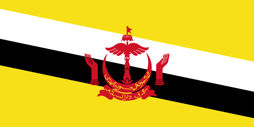 Flaga kraju BRUNEI [PNG]