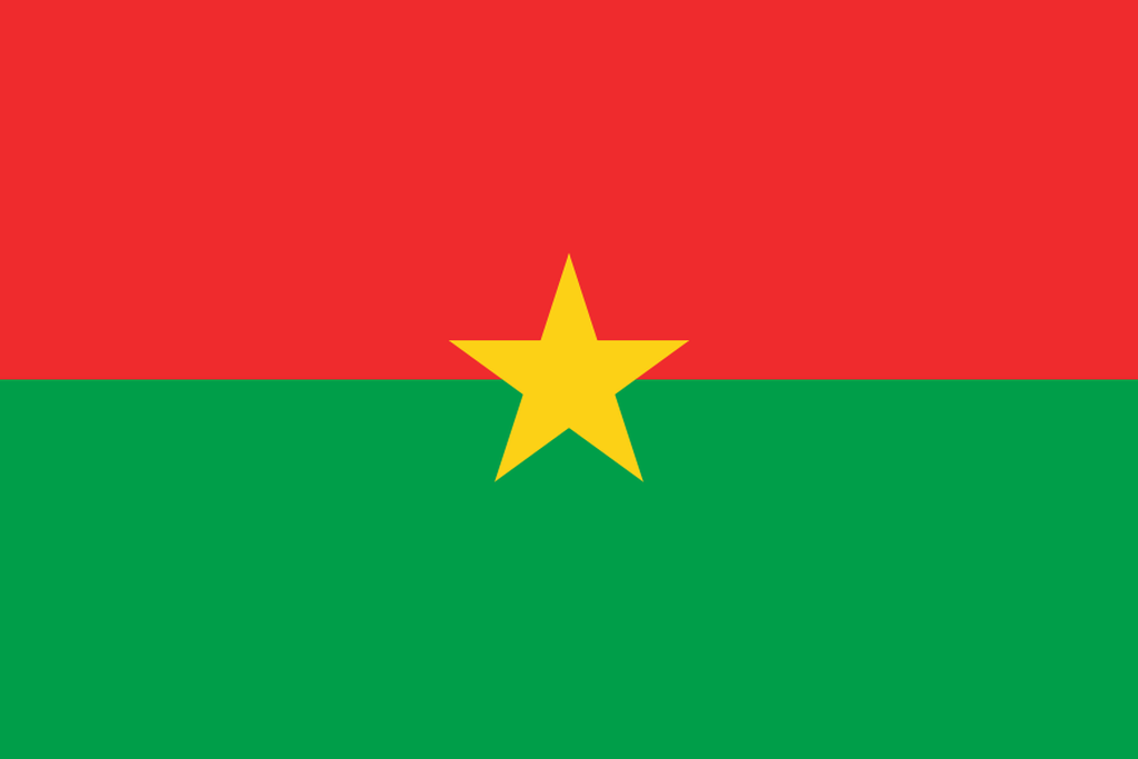 Flaga kraju BURKINA FASO [PNG]