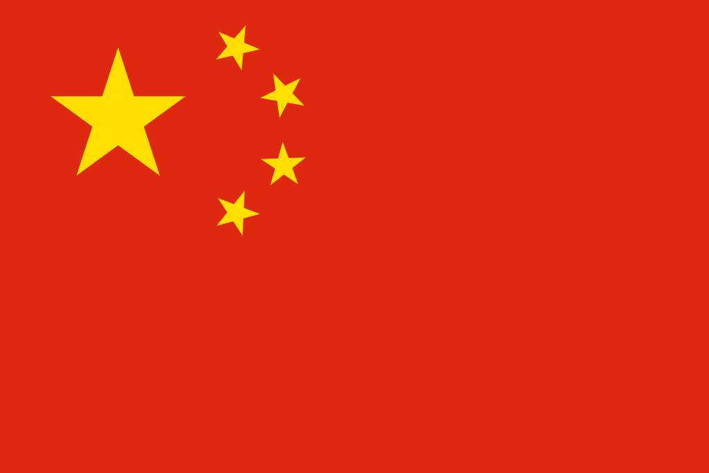 Flaga kraju CHIŃSKA REPUBLIKA LUDOWA [PNG]