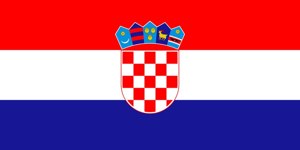 Flaga kraju CHORWACJA [PNG]