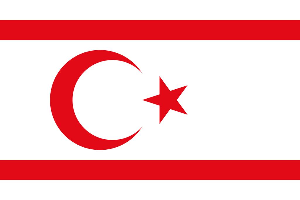 Flaga kraju CYPR PÓŁNOCNY [PNG]