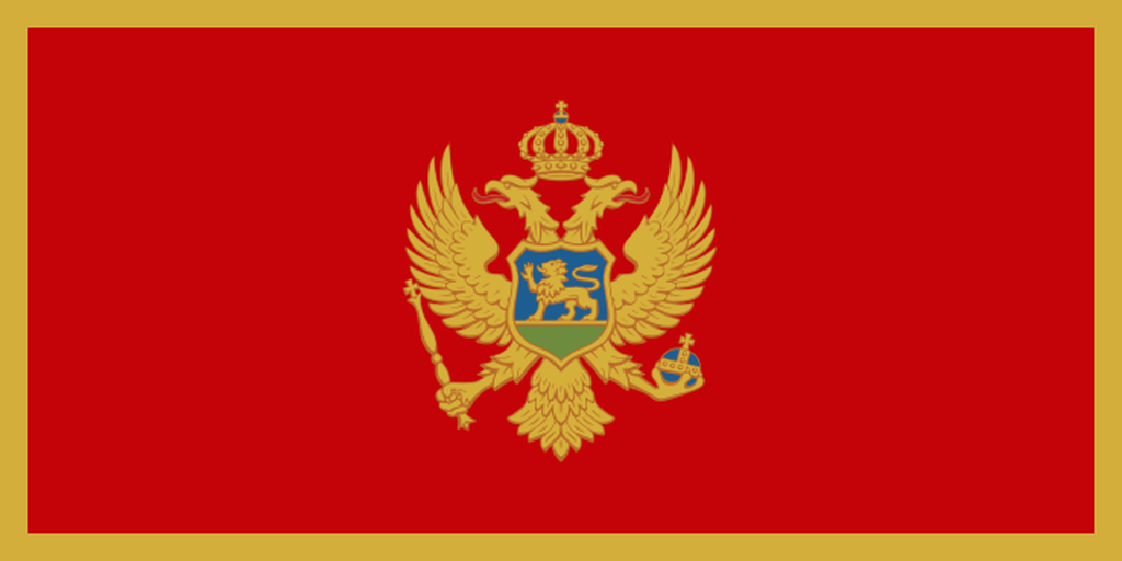 Flaga kraju CZARNOGÓRA [PNG]