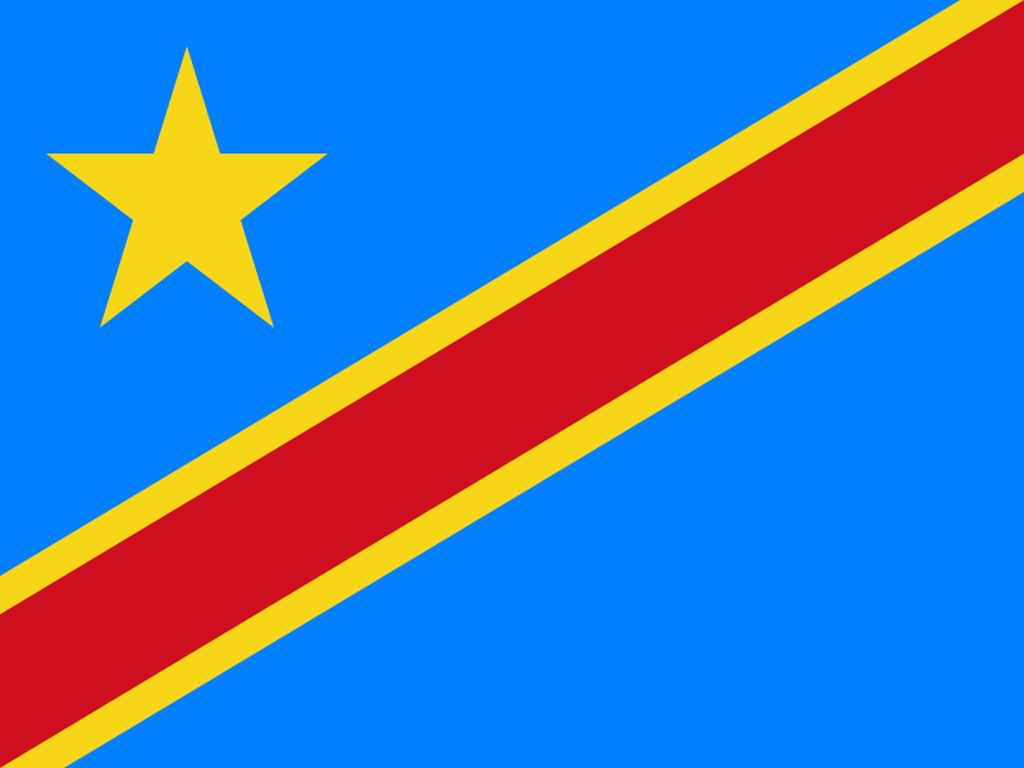 Flaga kraju DEMOKRATYCZNA REPUBLIKA KONGA [PNG]
