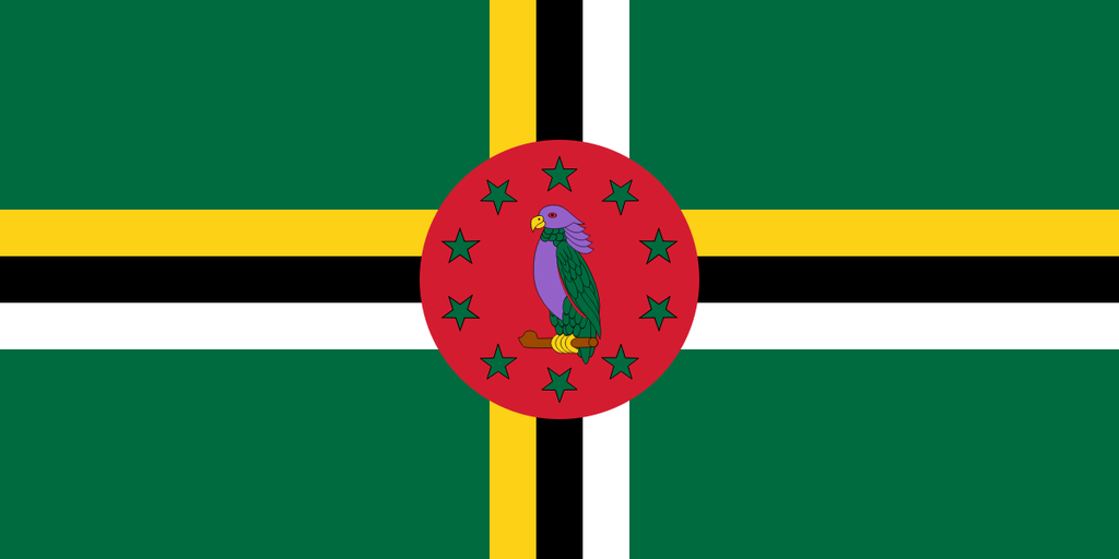Flaga kraju DOMINIKA [PNG]