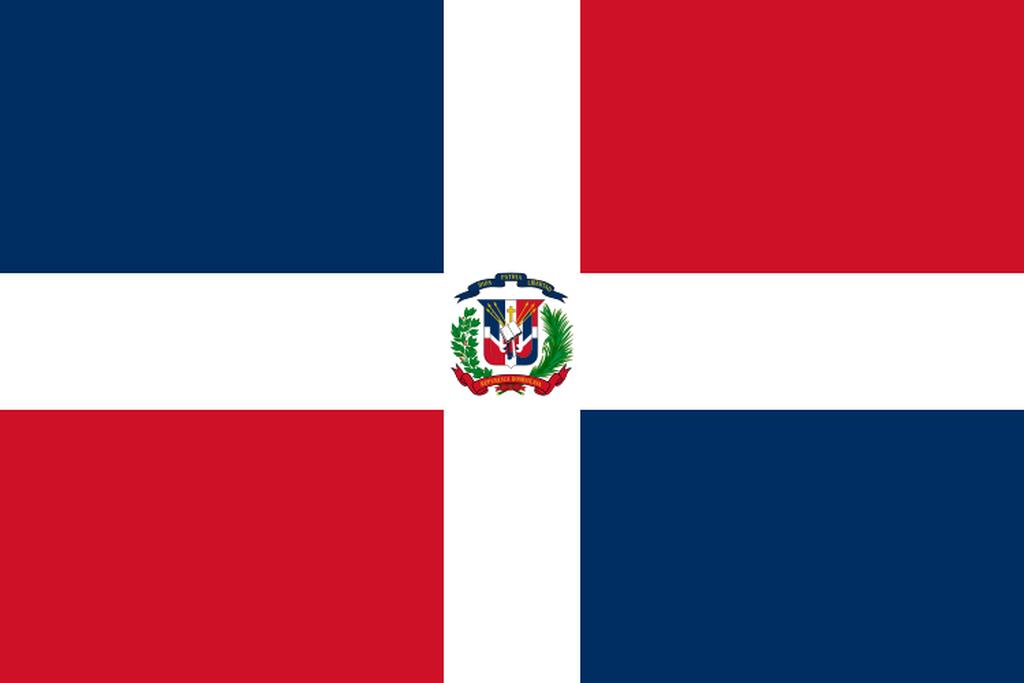 Flaga kraju DOMINIKANA [PNG]