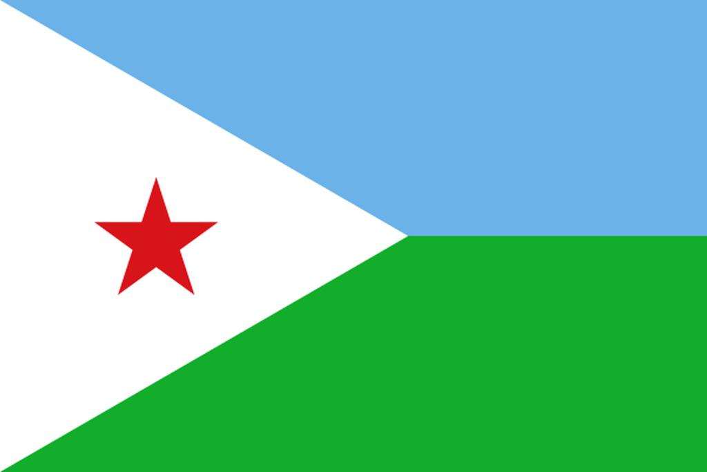 Flaga kraju DŻIBUTI [PNG]