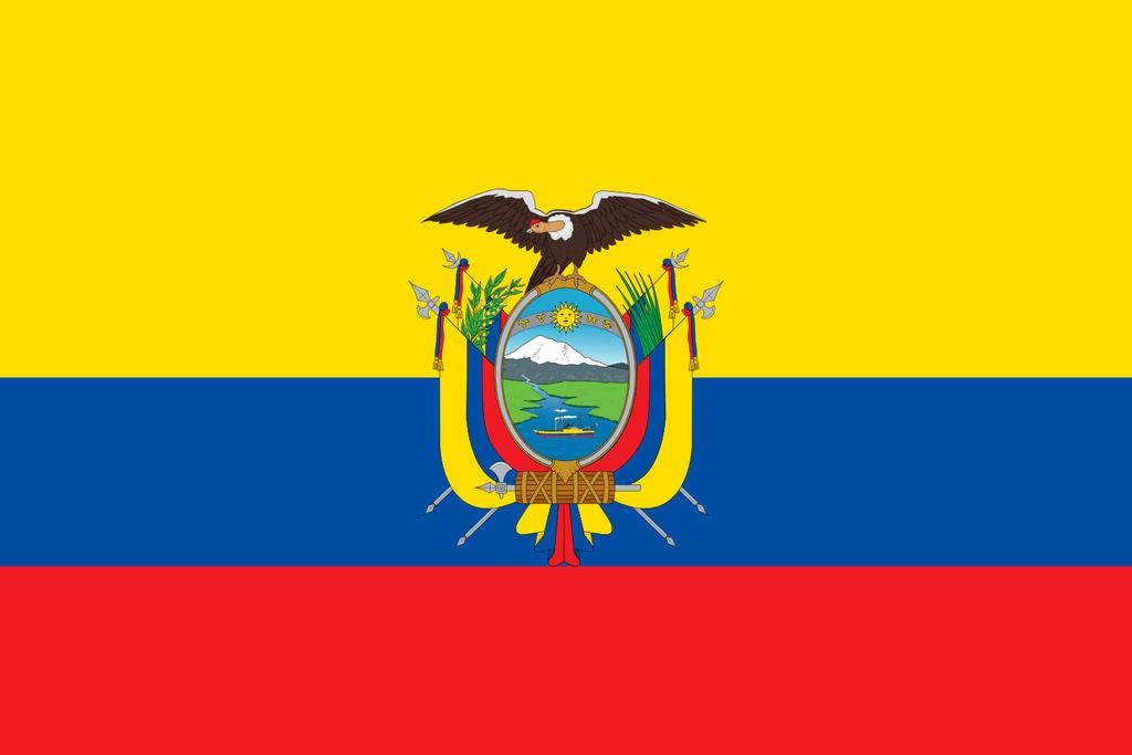 Flaga kraju EKWADOR [PNG]