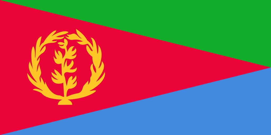 Flaga kraju ERYTREA [PNG]