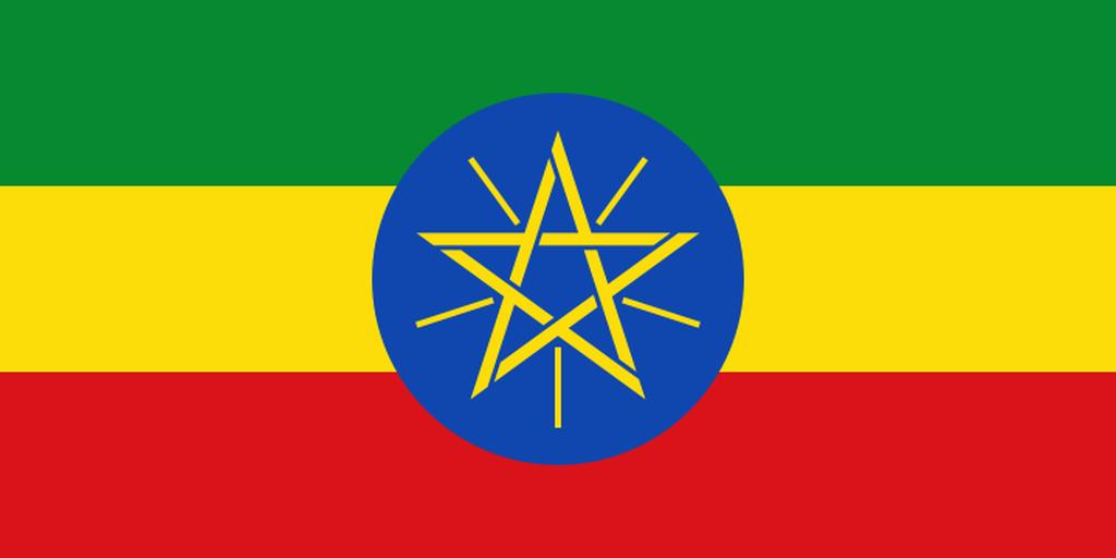 Flaga kraju ETIOPIA [PNG]