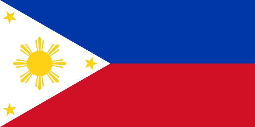 Flaga kraju FILIPINY [PNG]