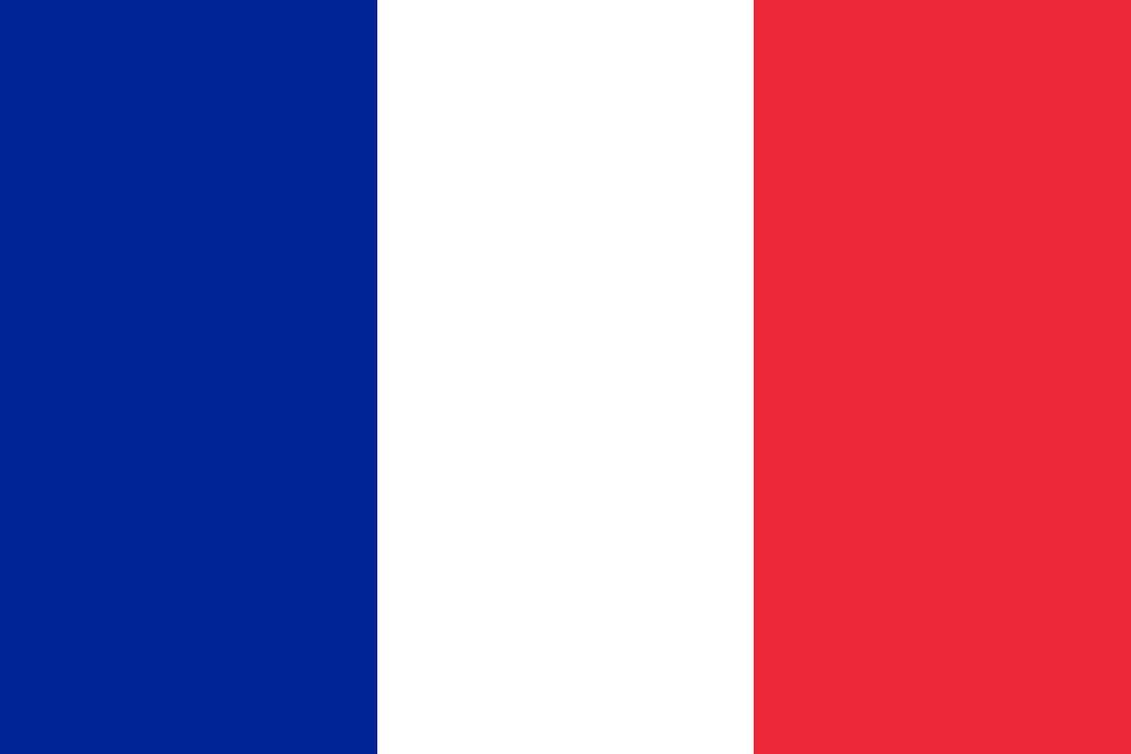 Flaga kraju FRANCJA [PNG]