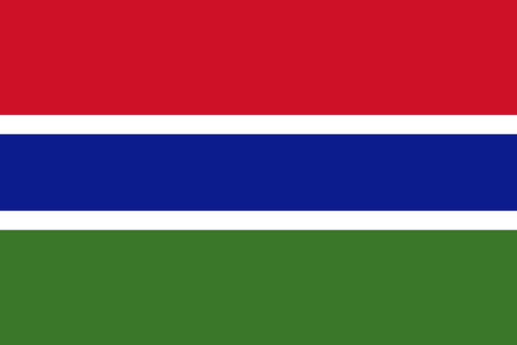 Flaga kraju GAMBIA [PNG]