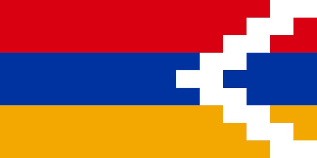 Flaga kraju GÓRSKI KARABACH [PNG]