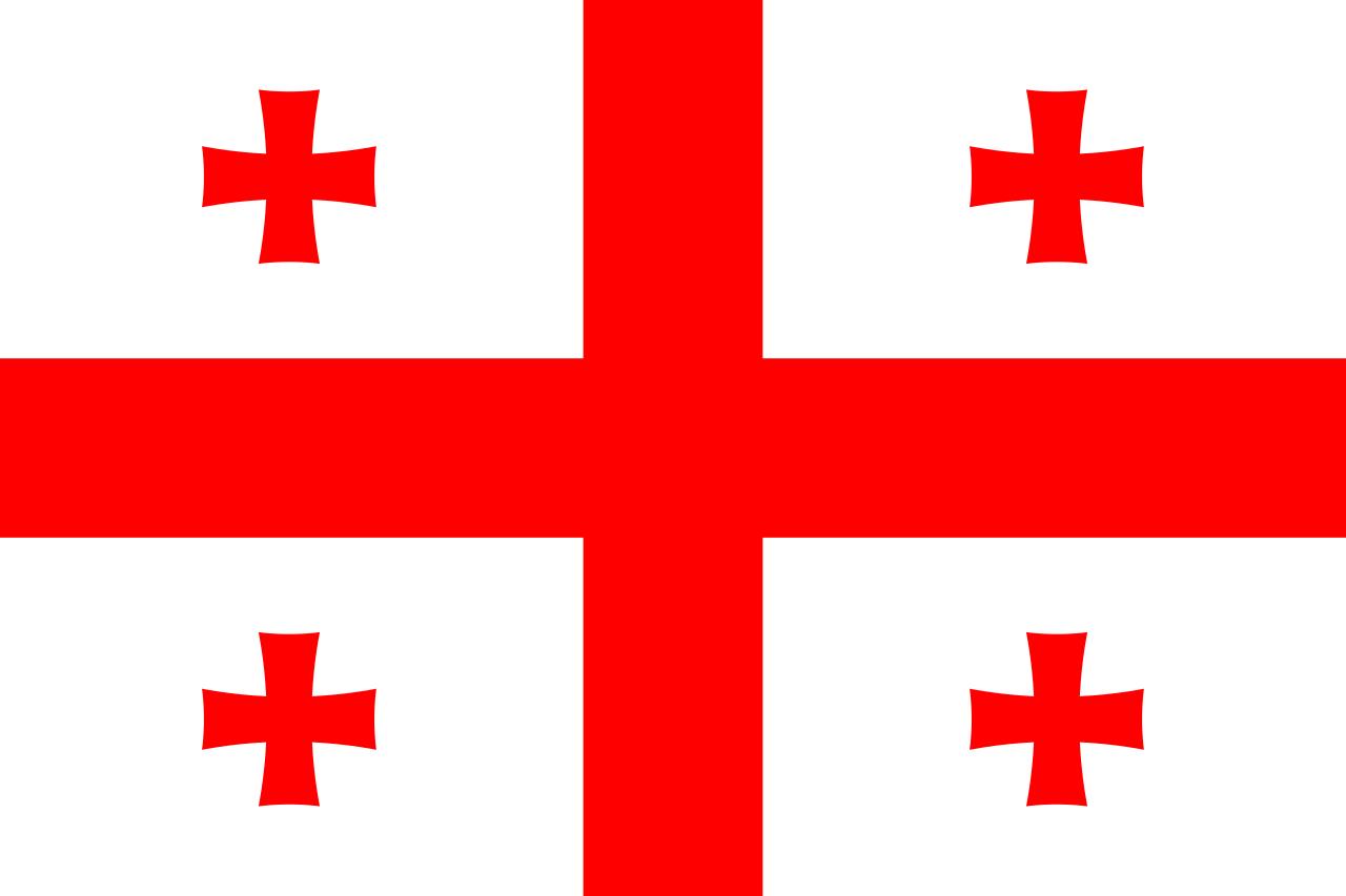 Flaga kraju GRUZJA [PNG]