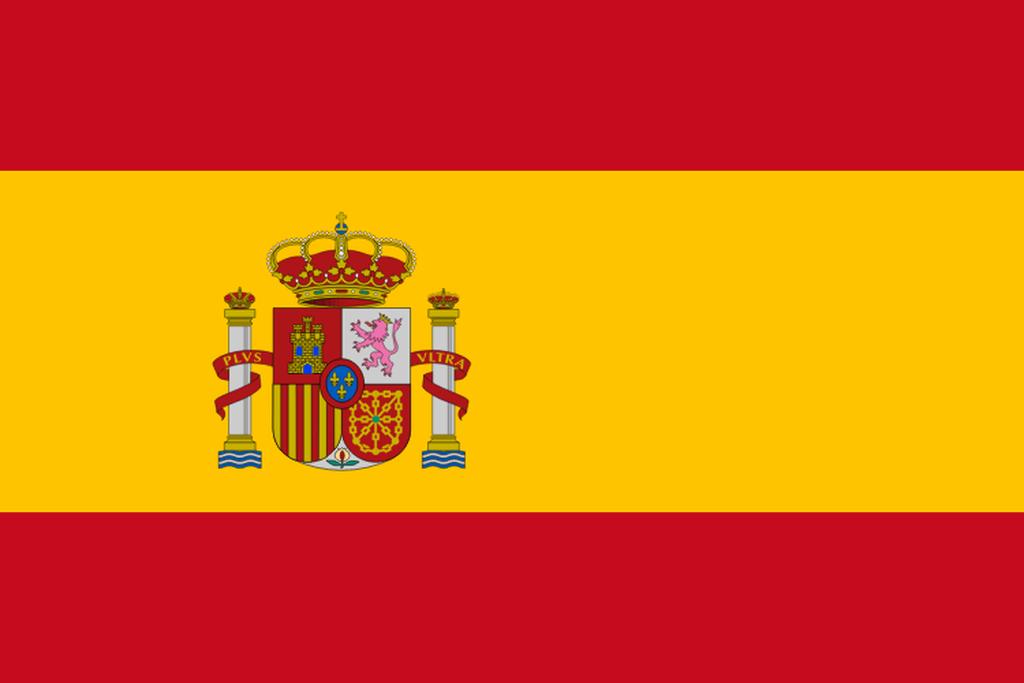 Flaga kraju HISZPANIA [PNG]