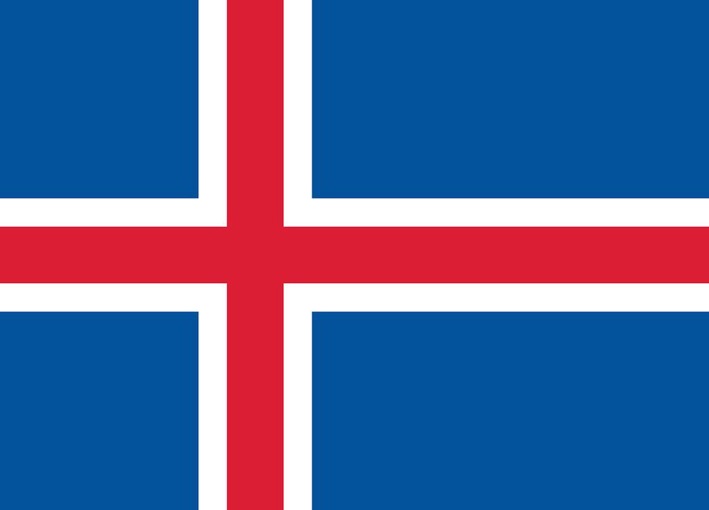 Flaga kraju ISLANDIA [PNG]