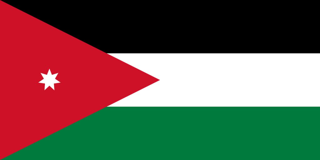 Flaga kraju JORDANIA [PNG]