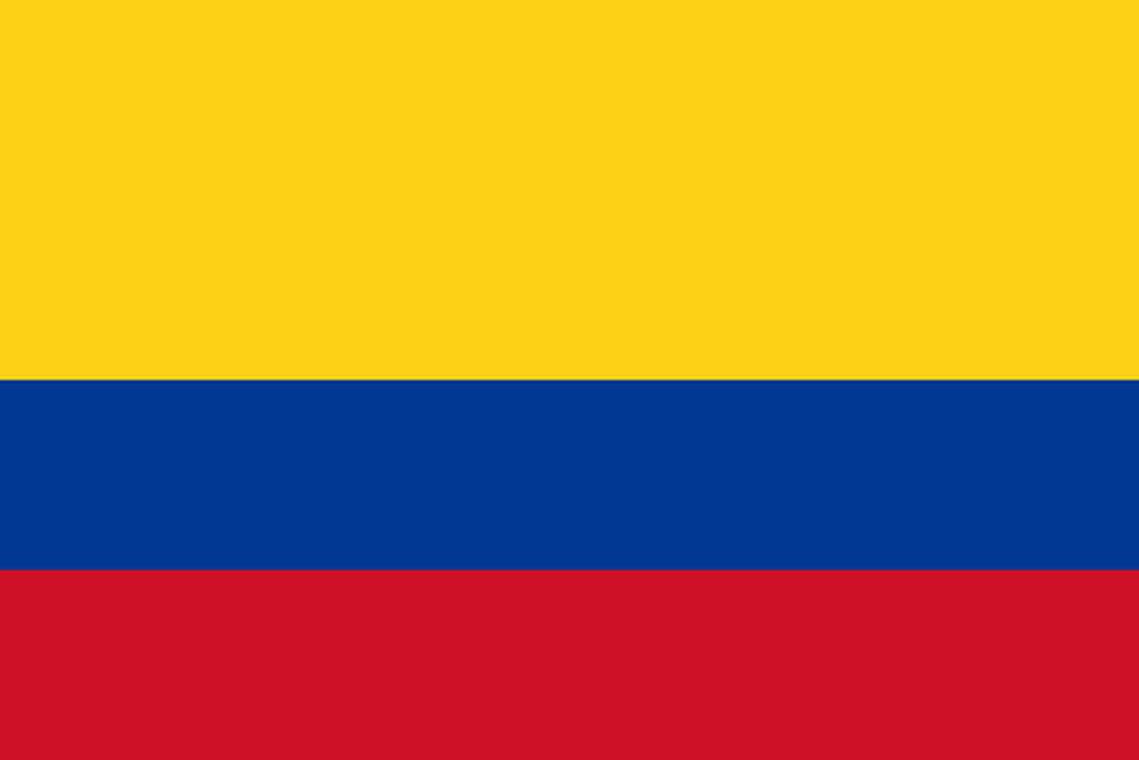 Flaga kraju KOLUMBIA [PNG]