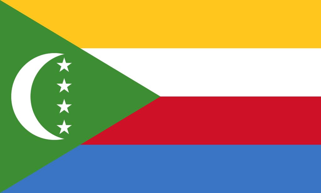 Flaga kraju KOMORY [PNG]