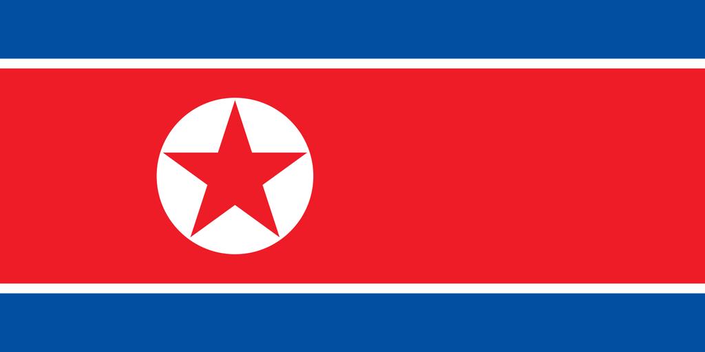 Flaga kraju KOREA PÓŁNOCNA [PNG]