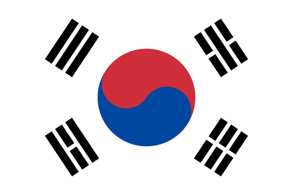 Flaga kraju KOREA POŁUDNIOWA [PNG]