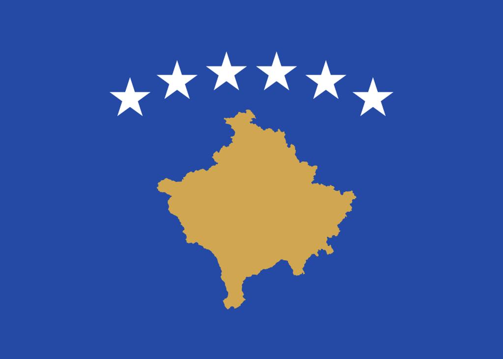Flaga kraju KOSOWO [PNG]