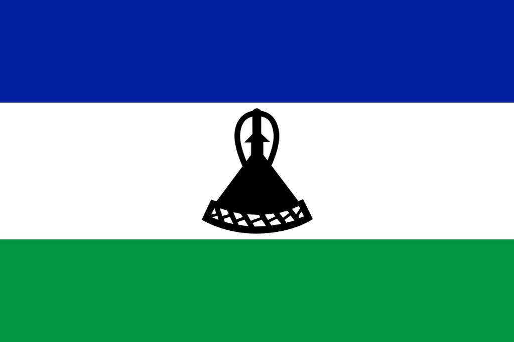 Flaga kraju LESOTHO [PNG]