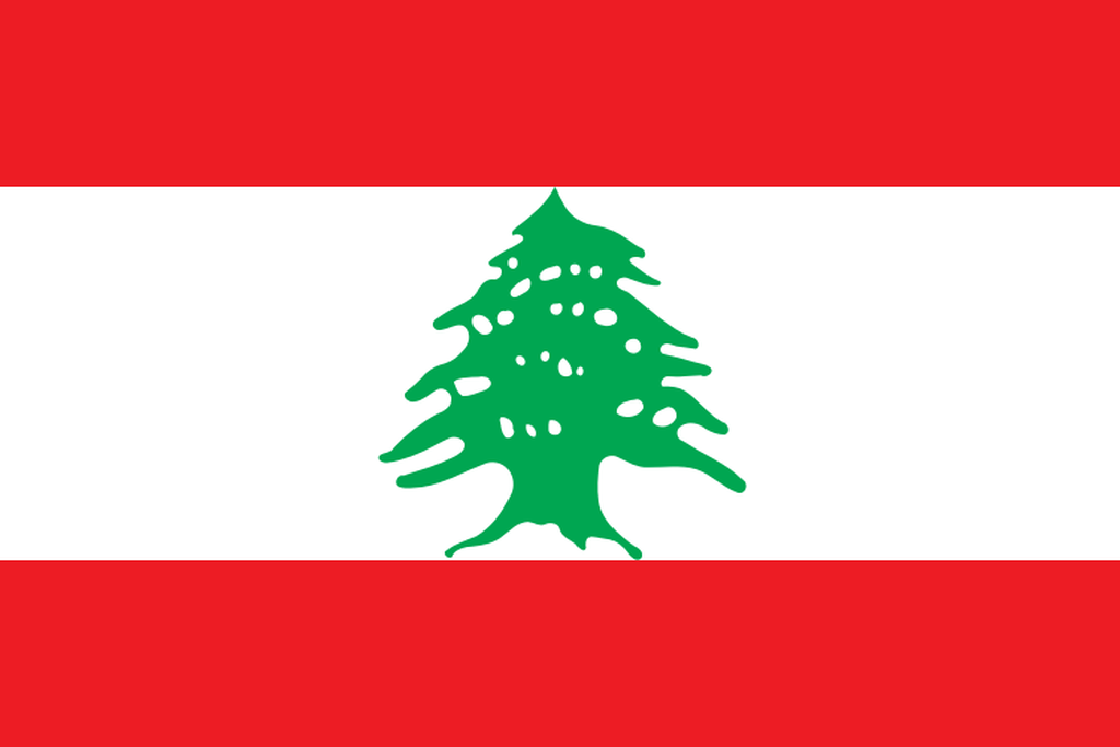 Flaga kraju LIBAN [PNG]