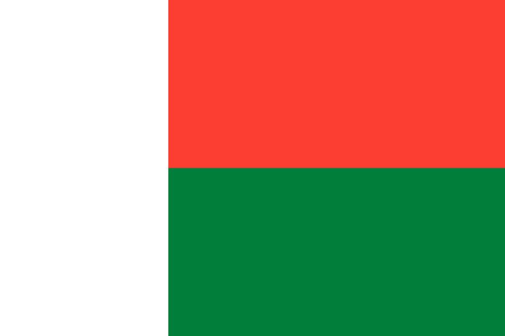Flaga kraju MADAGASKAR [PNG]