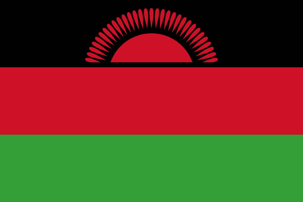 Flaga kraju MALAWI [PNG]