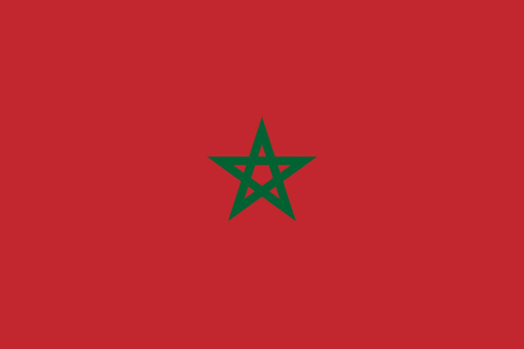 Flaga kraju MAROKO [PNG]