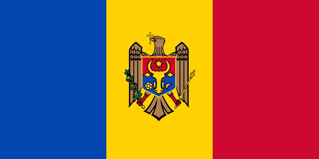 Flaga kraju MOŁDAWIA [PNG]