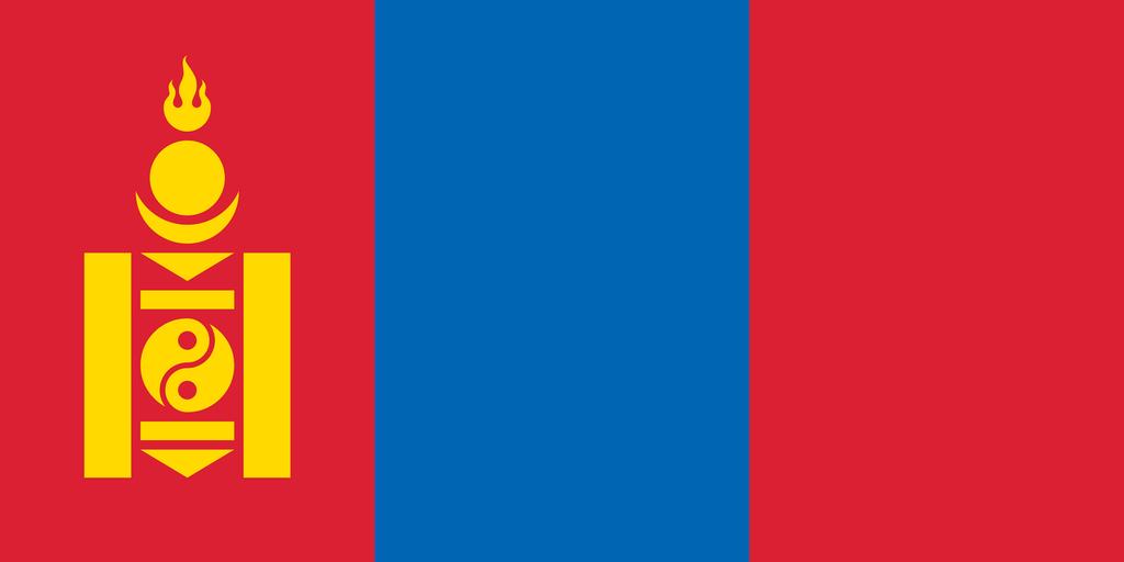 Flaga kraju MONGOLIA [PNG]