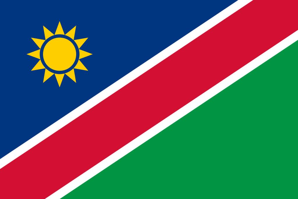 Flaga kraju NAMIBIA [PNG]