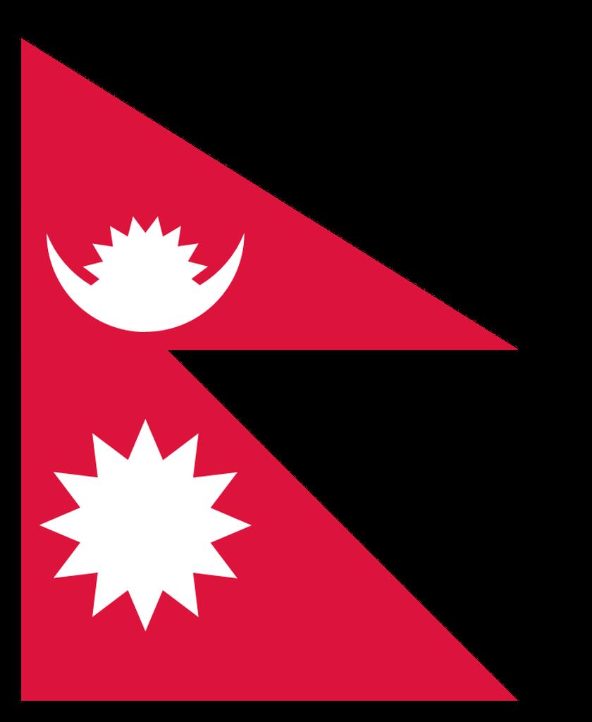 Flaga kraju NEPAL [PNG]