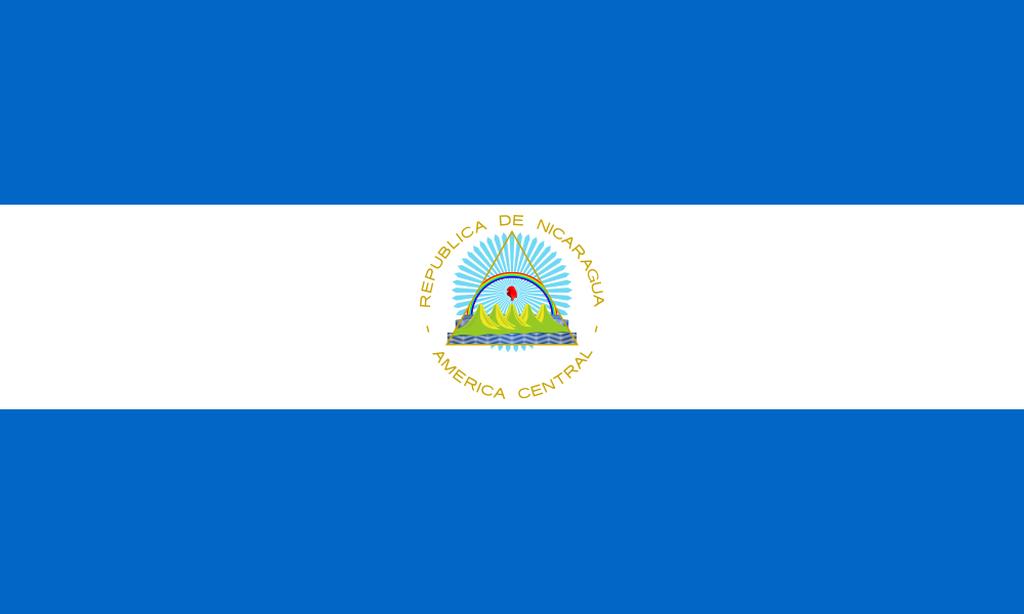 Flaga kraju NIKARAGUA [PNG]