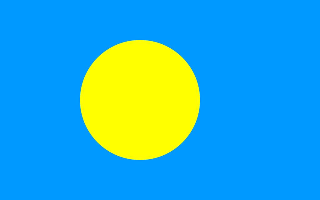 Flaga kraju PALAU [PNG]