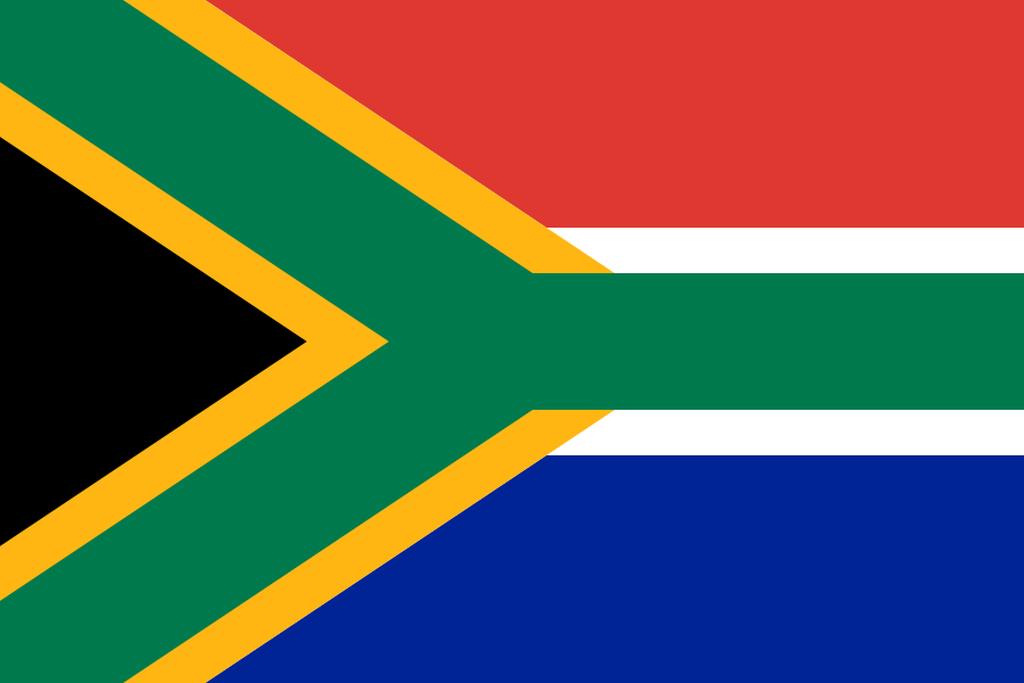 Flaga kraju REPUBLIKA POŁUDNIOWEJ AFRYKI [PNG]