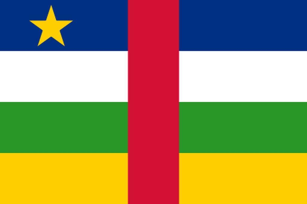 Flaga kraju REPUBLIKA ŚRODKOWOAFRYKAŃSKA [PNG]