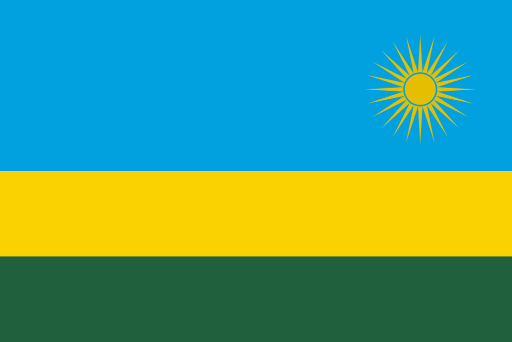 Flaga kraju RWANDA [PNG]